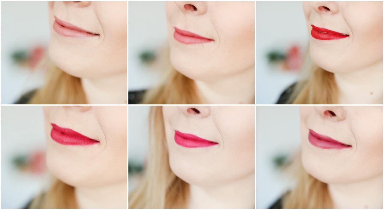 swatche - Bell Hypoallergenic Powder Lipstick -pudrowe pomadki w kredce