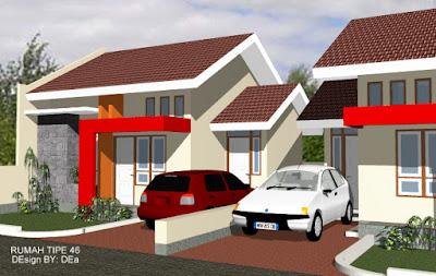 Desain rumah tipe 46
