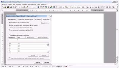 Microsoft Word Autocorrección