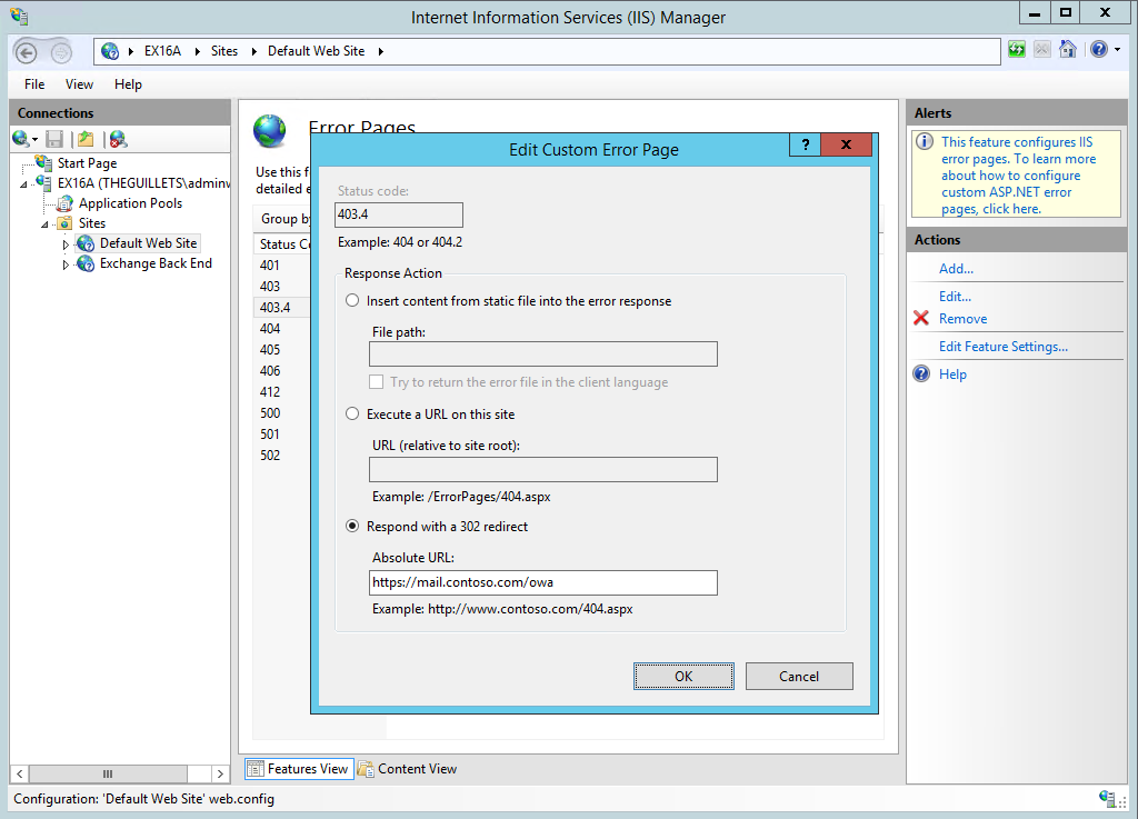How to Perform HTTP -> HTTPS Redirection in a Single Exchange Server