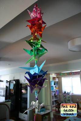 Pink and Green Mama: * Origami Peace Cranes Gift for ... - photo#23