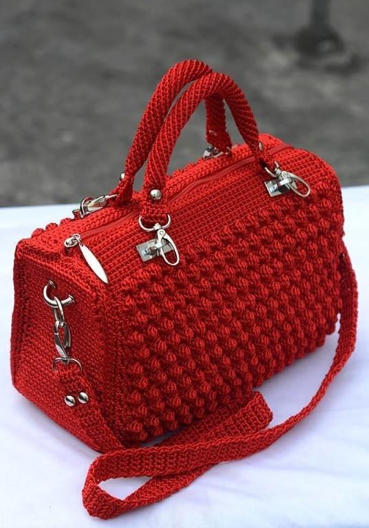 женская сумка крючком