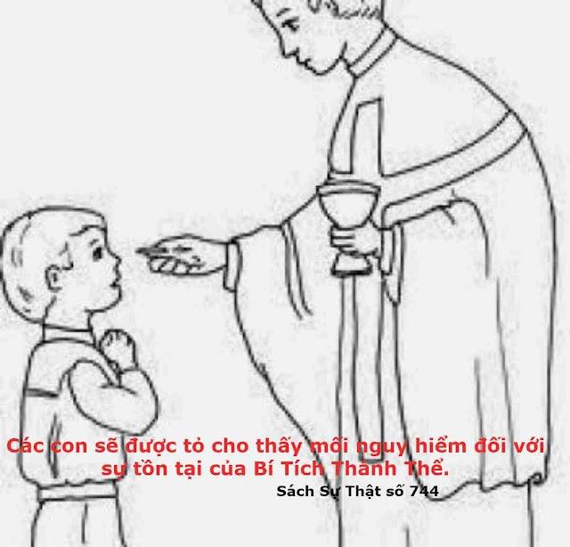 Hỡi những người Công Giáo, xin các con hãy Rước Lễ mỗi ngày trong tháng này nếu có thể được.