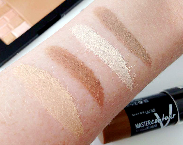Maybelline Master Contour V Shape Duo Stick Swatches