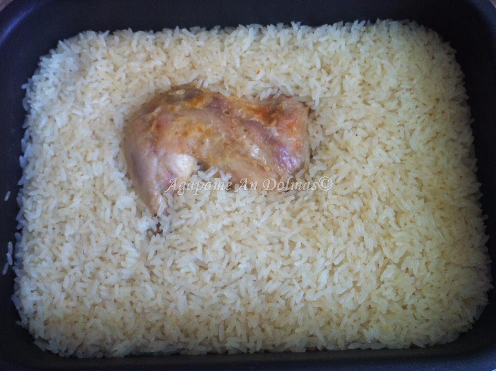 κότα με ρύζι