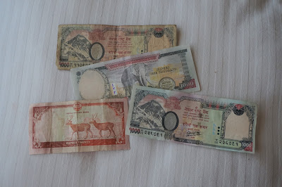 Nepali Money on white background