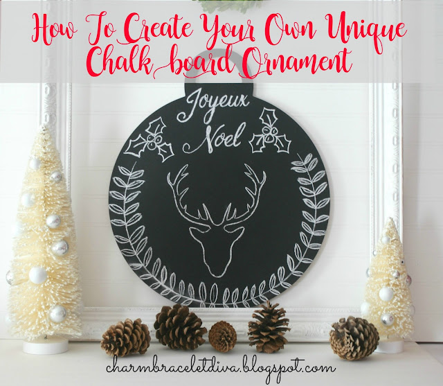 How to create your own chalkboard ornament