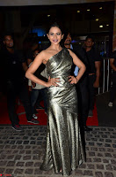 Rakul Preet Singh in Shining Glittering Golden Half Shoulder Gown at 64th Jio Filmfare Awards South ~  Exclusive 018.JPG