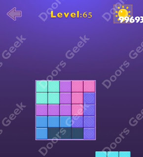 Cheats, Solutions, Walkthrough for Move Blocks Easy Level 65