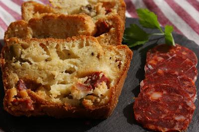 Cake Chorizo Olives Etorki
