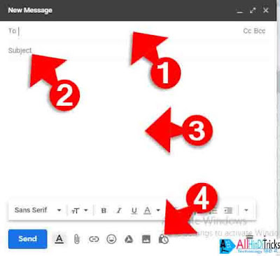 how to send secret email on gmail in hindi