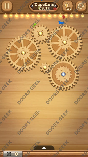 Fix it: Gear Puzzle [TapeLine] Level 12 Solution, Cheats, Walkthrough for Android, iPhone, iPad and iPod
