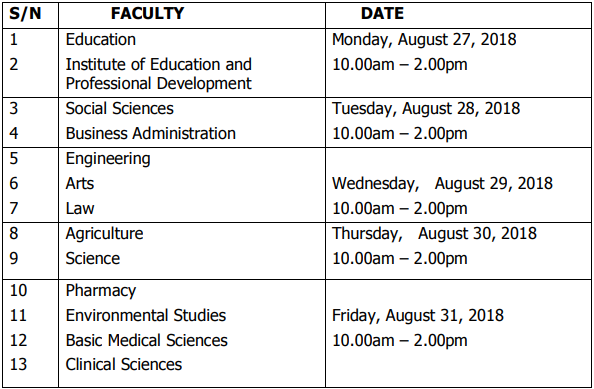 UNIUYO 2018/2019 Postgraduate Screening Timetable is Out -Updated