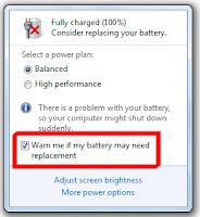 Baterai Laptop Tanda Silang