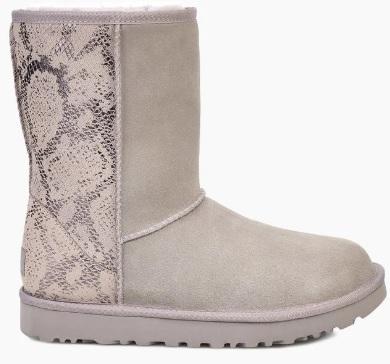 Metallic Snake Print Boots