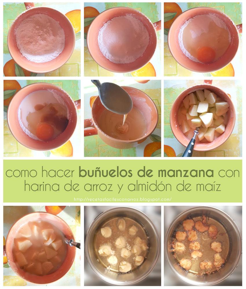 buñuelos manzana fototutorial