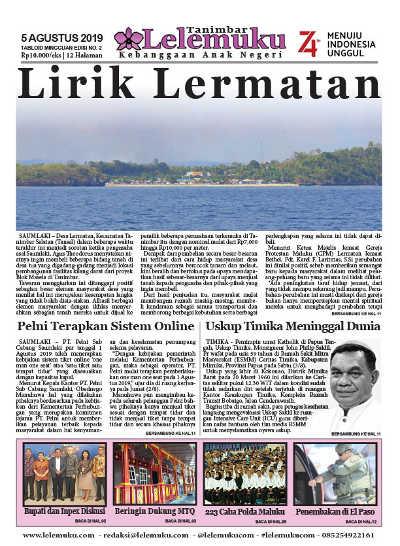 Tabloid Lelemuku #2 - Lirik Lermatan - 5 Agustus Juli 2019