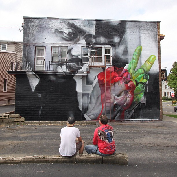 Street Art By Case In Rochester For Wall Therapy. 2