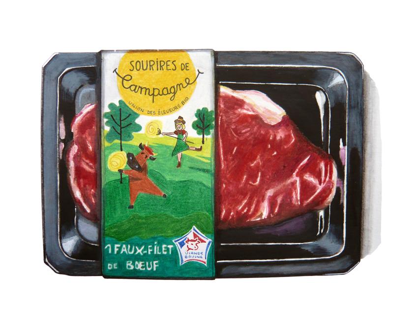 Barquette de viande