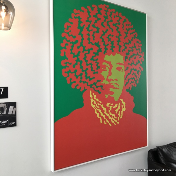 Jimi Hendrix portrait at The Lofts at SLO Brew in San Luis Obispo, California