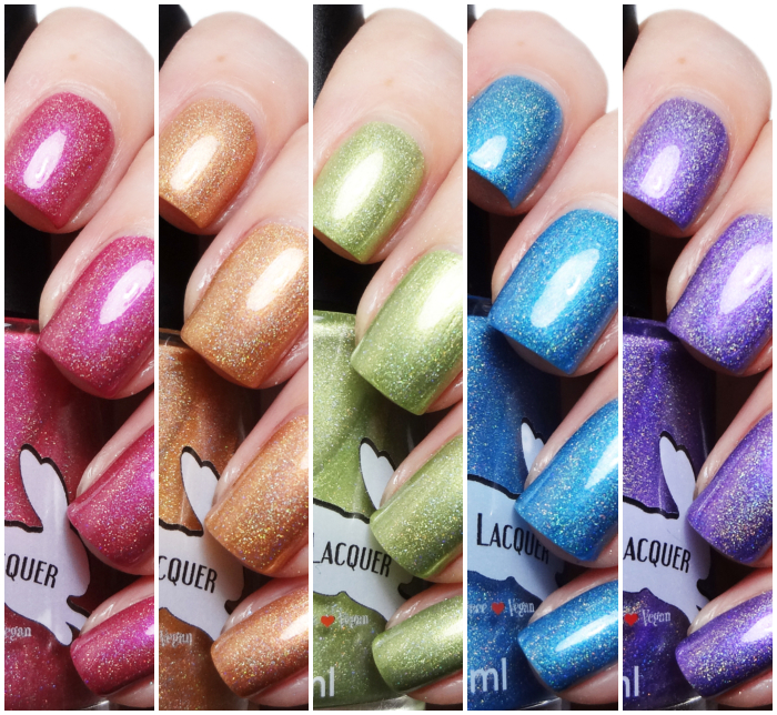 xoxoJen's swatch of Leesha's Lacquer Beachy Keen Holo Collection