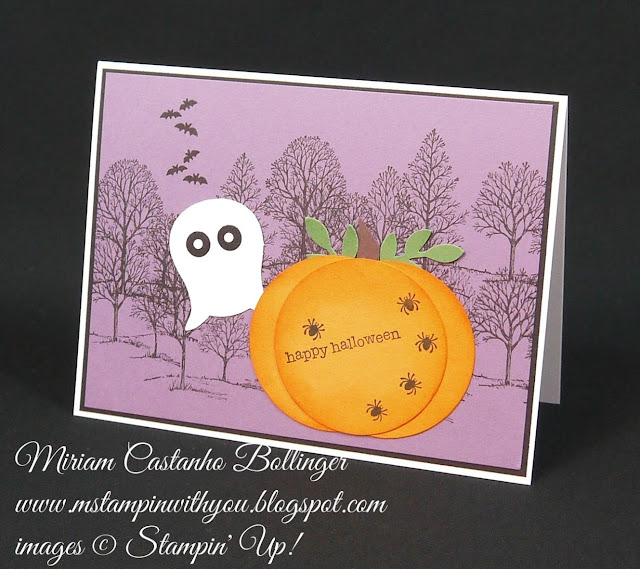 Miriam Castanho Bollinger, #mstampinwithyou, stampin up, demonstrator, dsc, halloween, lovely as a tree, perpetual birthday calendar, owl punch, bird builder punch, su