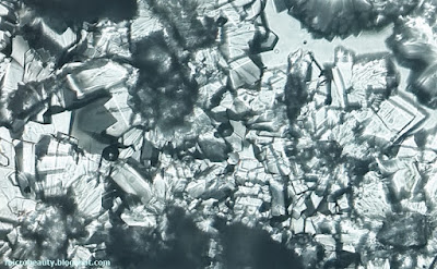 Sugar Crystals. Magnification - 100 Times.