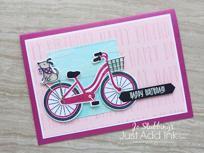 Jo's Stamping Spot - Just Add Ink #392 Something New Blog Hop using Bike Ride Bundle by Stampin' Up!