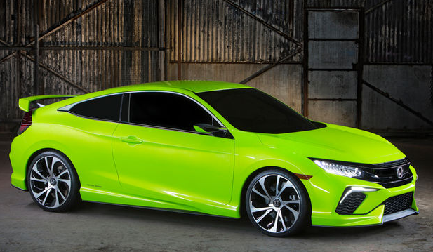 Review Automotive The Rollout Of Hondas Tenth Era Civic Lineup Will Proceed At 2015 Los Angeles Automobile Fair When 2016 Honda Coupe Makes