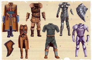 Tabela de habilidades mágicas para armaduras e escudos D&D 3.5