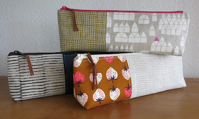 Luna Lovequilts - Pencil pouches - Maker Maker collection from Andover fabrics