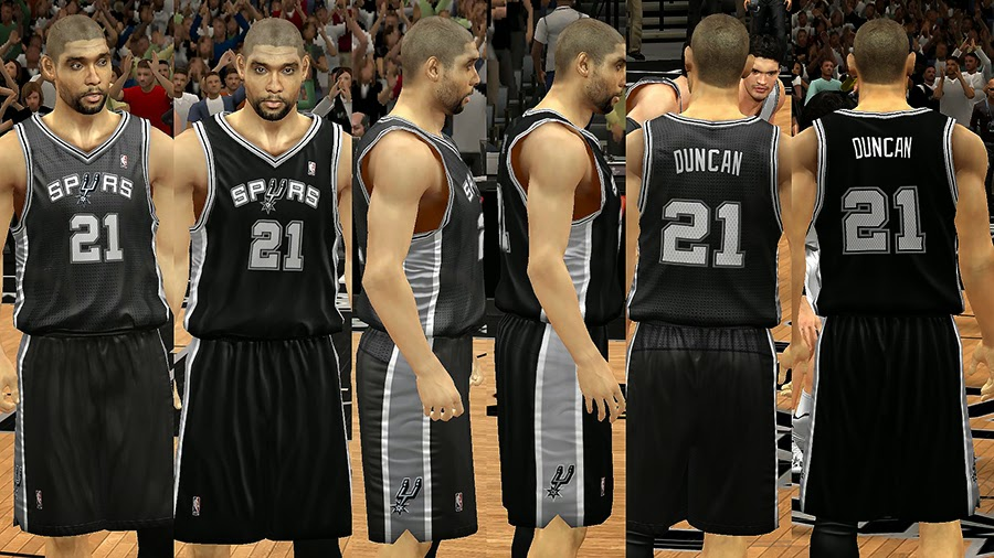 NBA 2K14 San Antonio Spurs Jersey Mod Pack