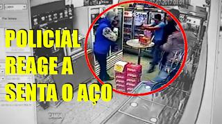 [VÍDEO] POLICIAL REAGE: TRÊS PRESOS E UM MORTO