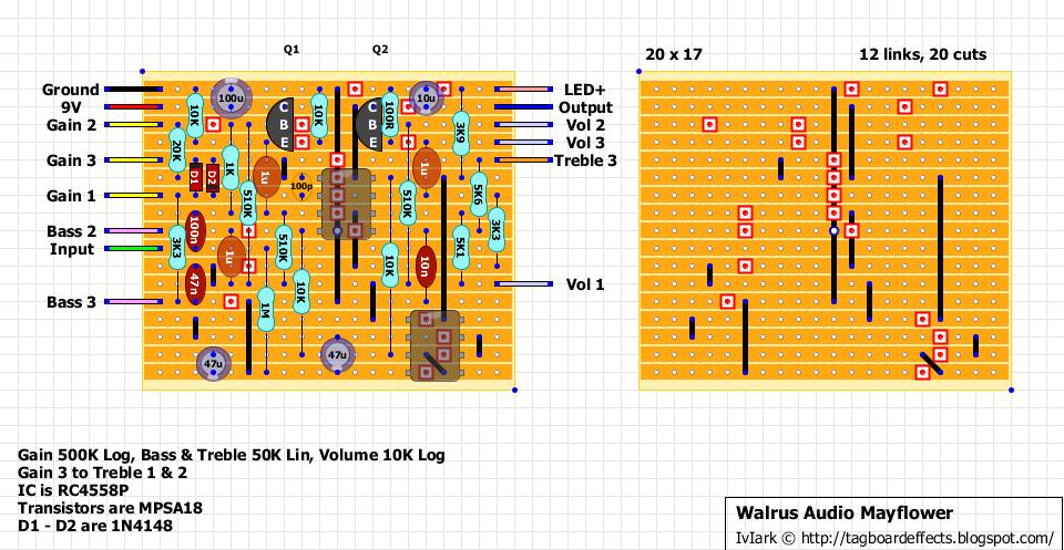 guitar fx layouts walrus audio mayflower. Black Bedroom Furniture Sets. Home Design Ideas