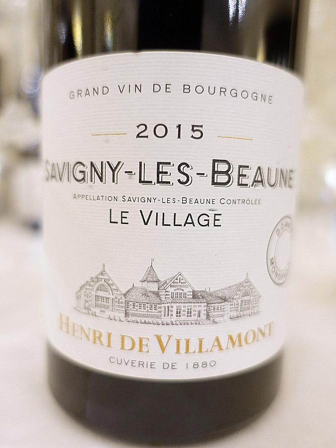 Henri de Villamont Savigny-Les-Beaune Le Village 2015 (91 pts)
