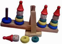 Mainan Anak Kayu Clown Stacking Balance