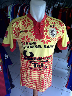Jual Jersey Sriwijaya FC Home TSC 2016 di toko jersey jogja sumacomp, murah berkualitas