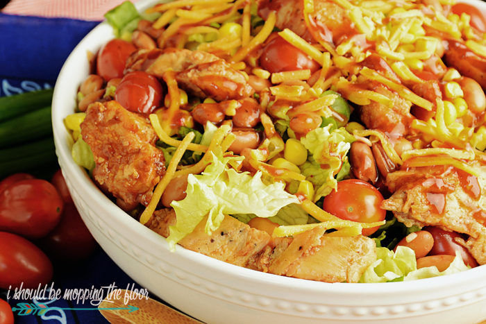 This Texas Chopped Chicken Salad recipe is full of all of the classic flavors of a barbecue joint...in a delicious and fresh salad form!
