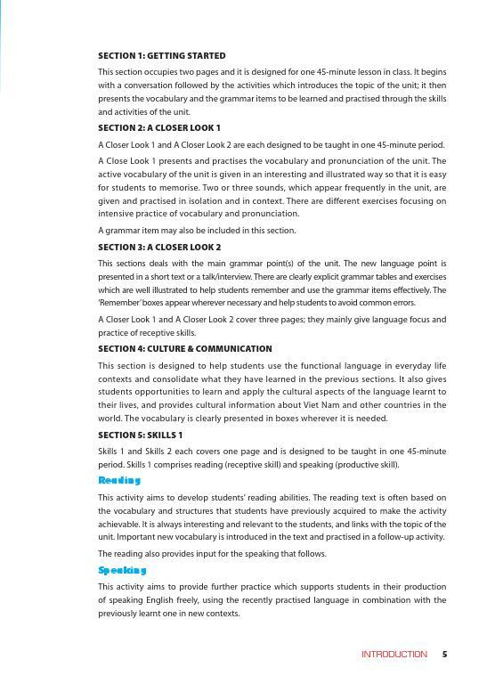 Trang 4 sach Sách Giáo Viên Tiếng Anh 6 Tập 1