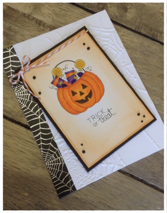 Inky Paws Challenge #36 Halloween | Halloween card by Cimbacreativefun | Digital Stamp set by Newton's Nook Designs #newtonsnook