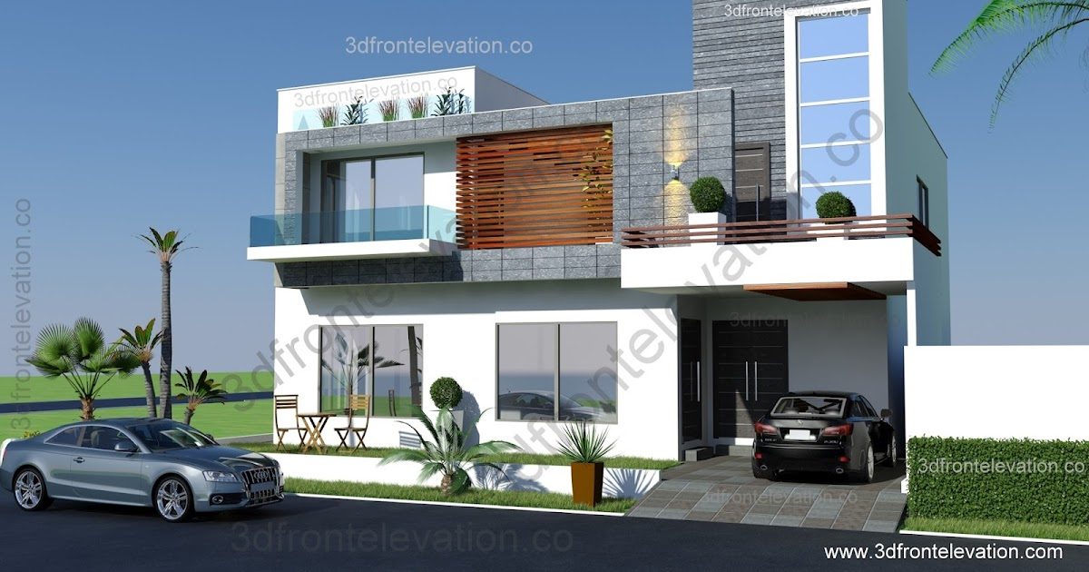 D Front Elevation Of Marla House : D front elevation marlaz marla