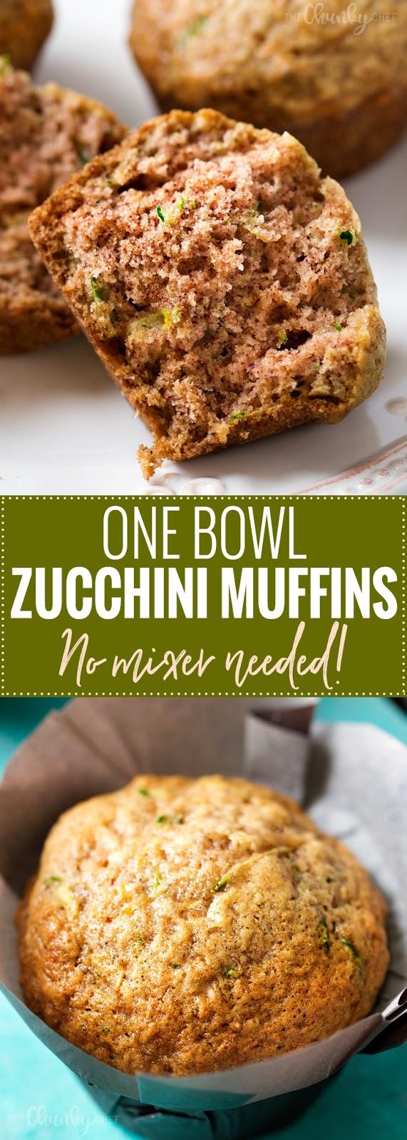 ONE BOWL ZUCCHINI MUFFINS RECIPES
