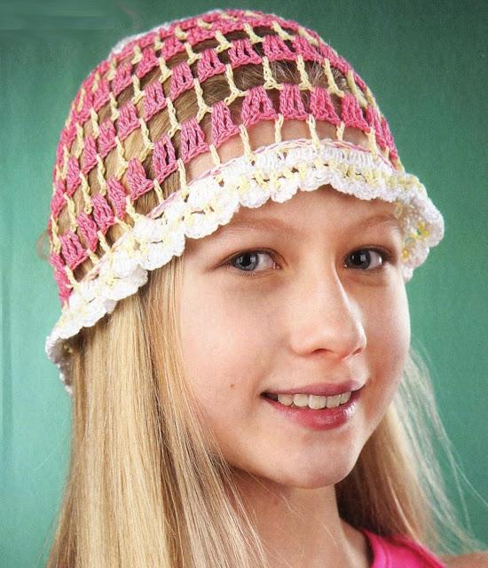 Летняя ажурная шапочка.  Openwork Beanie