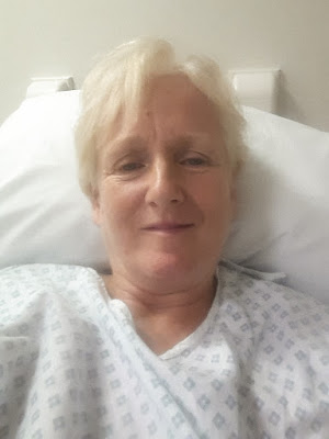 A selfie taken soon after I returned to the ward