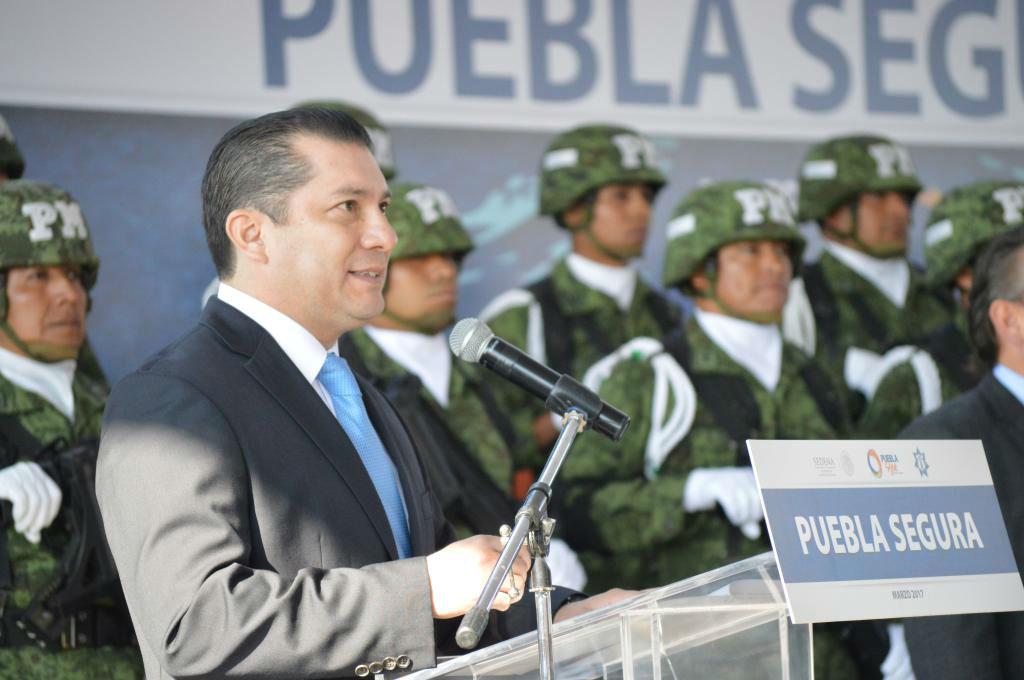 """Videos del CJNG y """"Cártel Puebla Segura"""" pretenden generar """"caos y desestabilidad"""" en Puebla: SSP"""