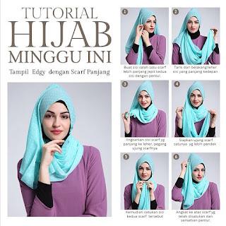 Tutorial Hijab Arabian Style Bikin Kamu Jadi Pusat Perhatian