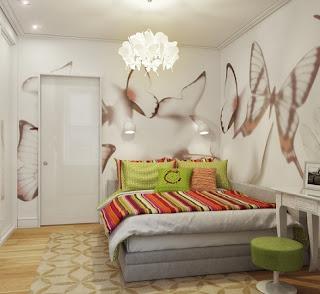 dormitorio pequeño moderno