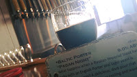 """First beer back:  """"Pagan Night"""" by Stilt House Brewery."""
