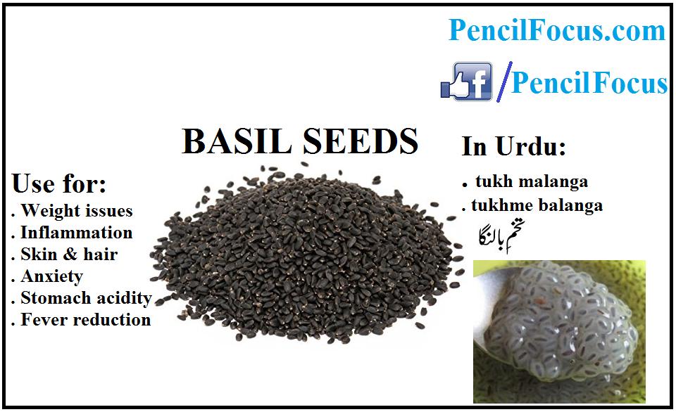 Power Seeds Superfoods Chia Seeds Basil Seeds Pencil Focus