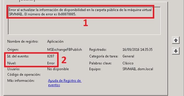 Pantallazos es: Microsoft Exchange: Troubleshooting Error